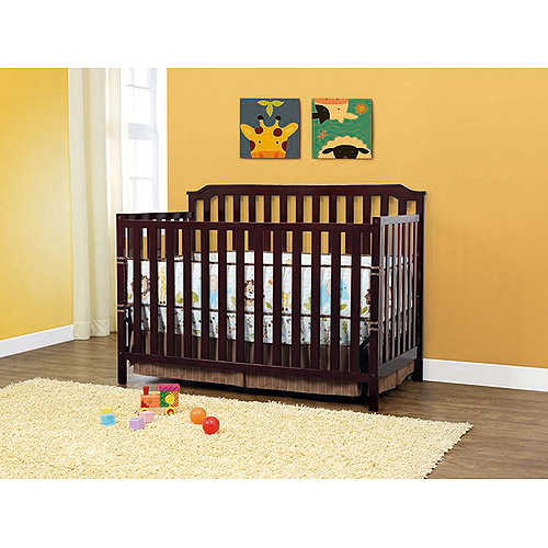 BSF Baby Milan Lifetime 2-in-1 Fixed-Side Crib, Espresso