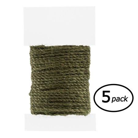 5 Pack Blue Led - Paracord Planet - 2 mm Jute Cord Packs - 10 Meter Spools - Several Color Options - Available in 5 or 10 Packs