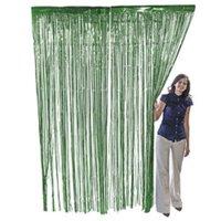 Green Metallic Fringe Door Curtain Party Decor 3' x 8'