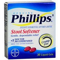 6 Pack - Phillips' Stool Softener Liquid Gels 30 Liquid Gels Each