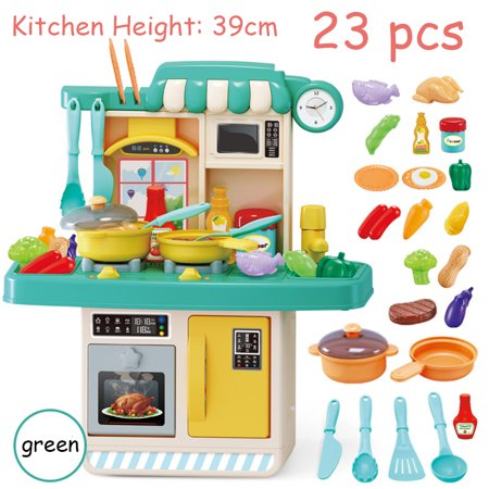 23 26pcs Kitchen Playset Pretend Play Toy Cooking Set With Light Sound Effect Walmart Canada