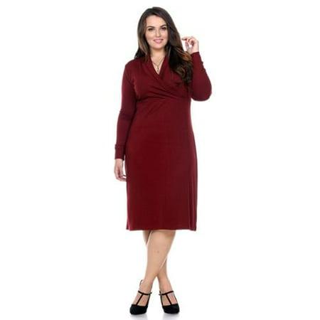 Stanzino - Stanzino Women\'s Plus Size Long-Sleeve Knee-Length ...