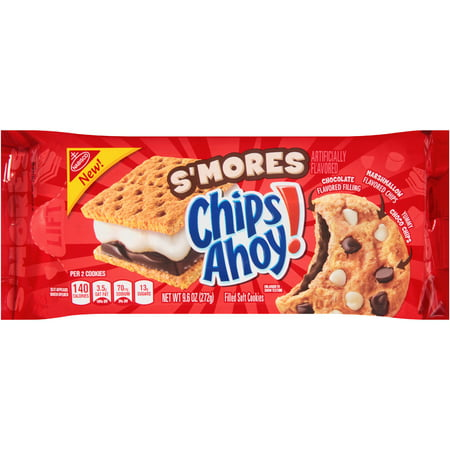 Digital 3 Chip ((3 Pack) Nabisco S'mores Chips Ahoy! Filled Soft Cookies, 9.6 oz)