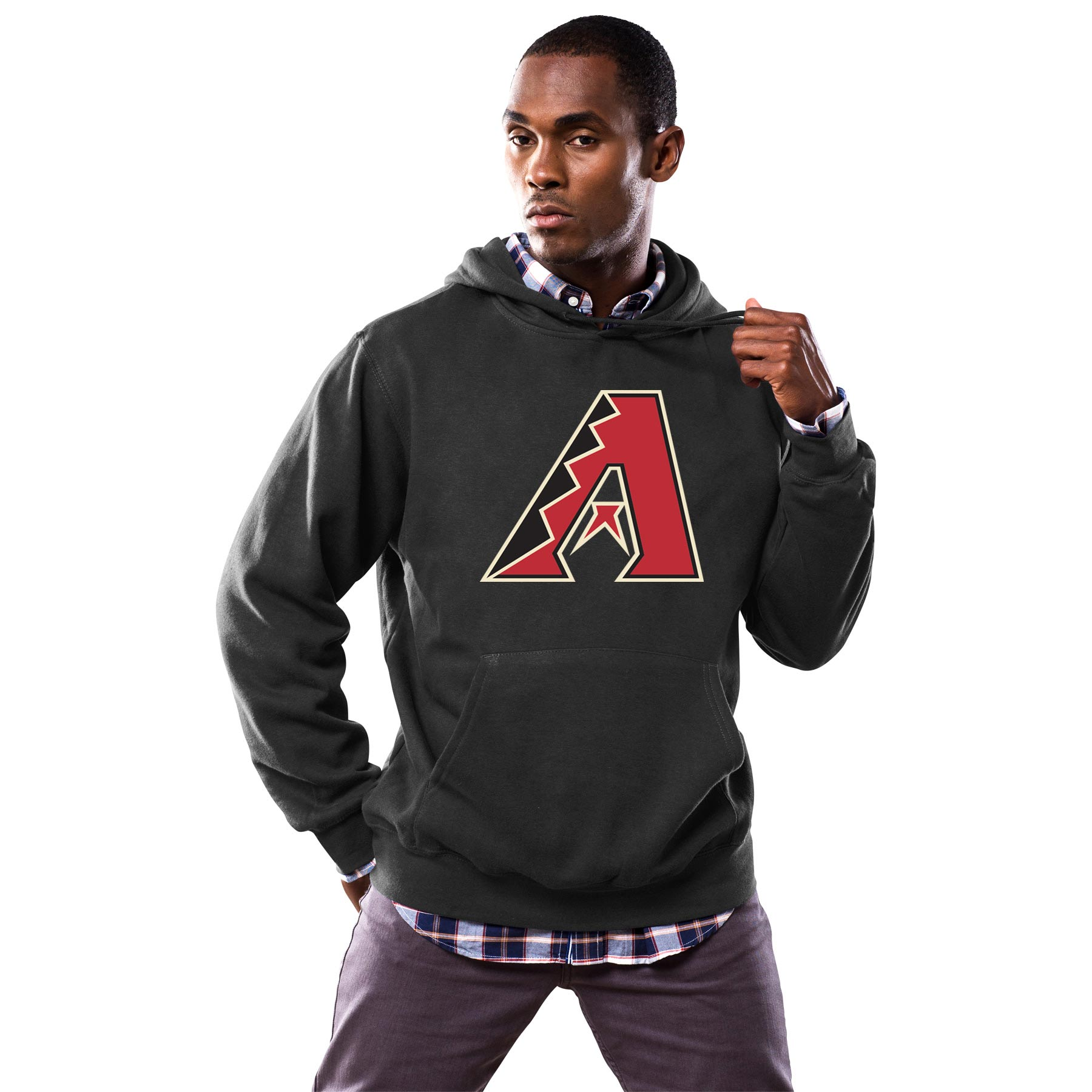 Arizona Diamondbacks Majestic Scoring Position Hoodie - Black