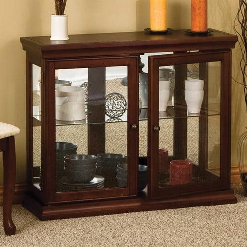 Wildon Home Console Curio Cabinet Walmart Com