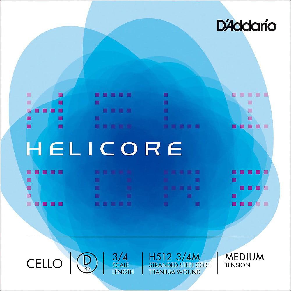 D'Addario Helicore Series Cello D String 3/4 Size