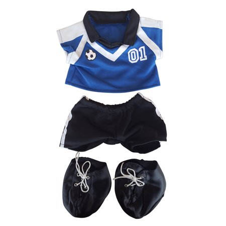 Teddy Bear Outfit For Dogs (Blue Soccer Outfit Teddy Bear Clothes Fits Most 14