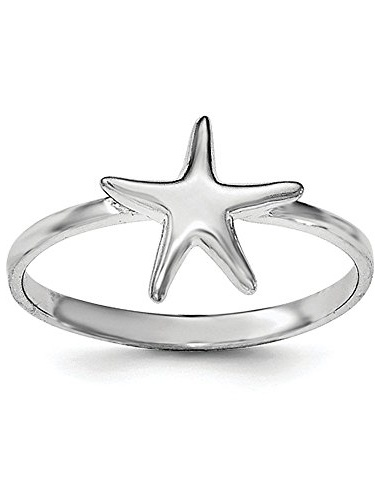 Starfish 925 Sterling Silver Ring Size 4-8