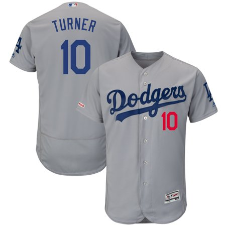 Justin Turner Los Angeles Dodgers Majestic Road Flex Base Authentic Collection Player Jersey -