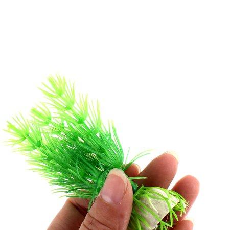 Unique Bargains Aquarium Fish Tank Artificial Plastic Plant Water Grass Ornament 10 Pcs Green - image 2 of 3