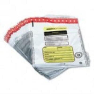 MMF Industries Tamper-Evident Deposit/Cash Bags, Plastic, 12 x 16,100 Bags/Box