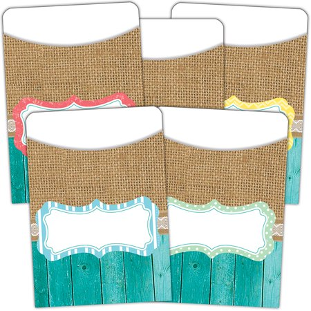 SHABBY CHIC LIBRARY POCKETS MULTI PACK