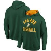 Oakland Athletics Fanatics Branded Team Pride Pullover Hoodie - Green/Gold