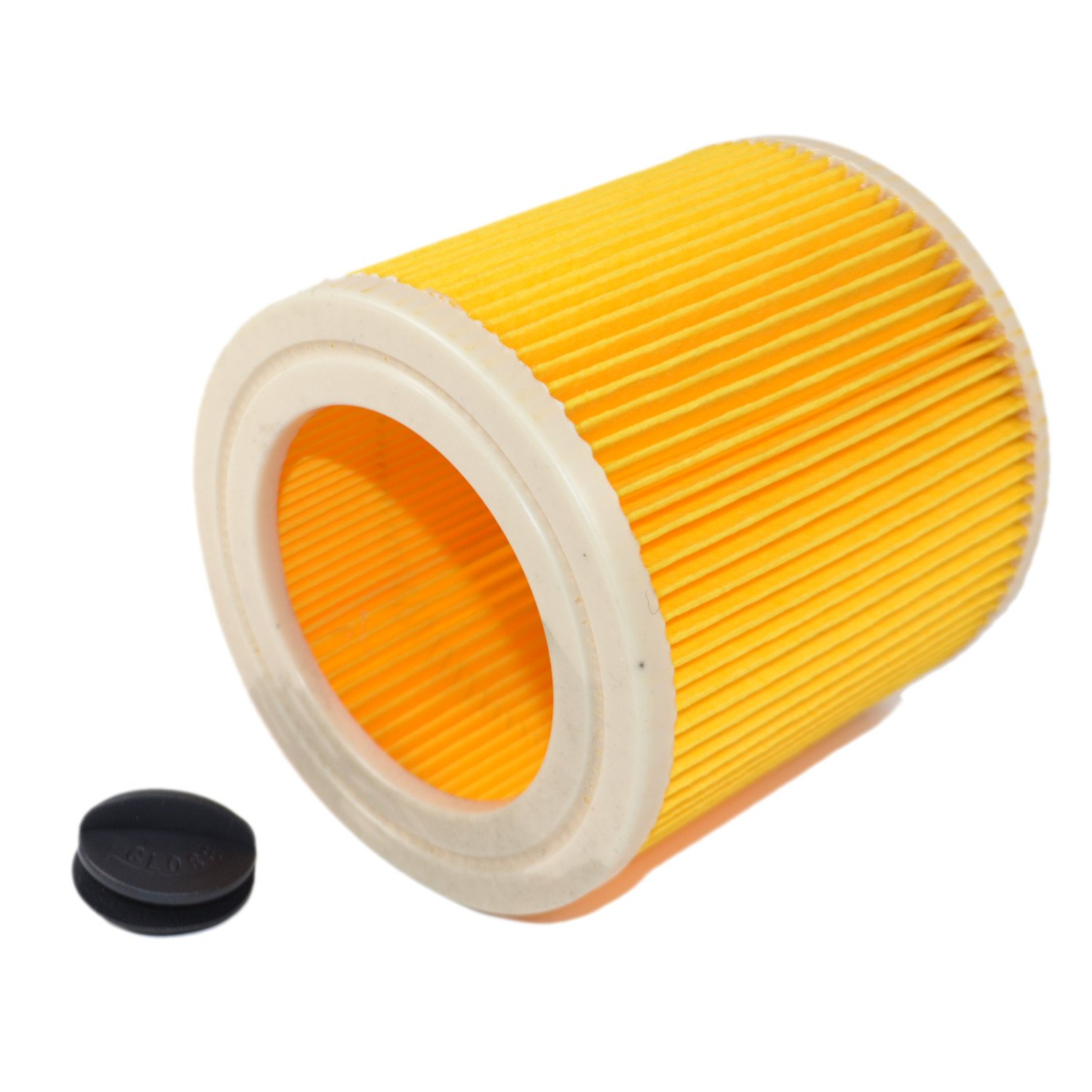 HQRP 2-pack Cartridge Filter for Karcher MV2, MV3 series, MV2 Premium, MV 3 Car Kit, MV 3 P, MV 3 Premium, MV 3 Fireplace Kit, MV3 P Extension Kit Wet & Dry Vacuum Cleaner + HQRP Coaster - image 2 de 4
