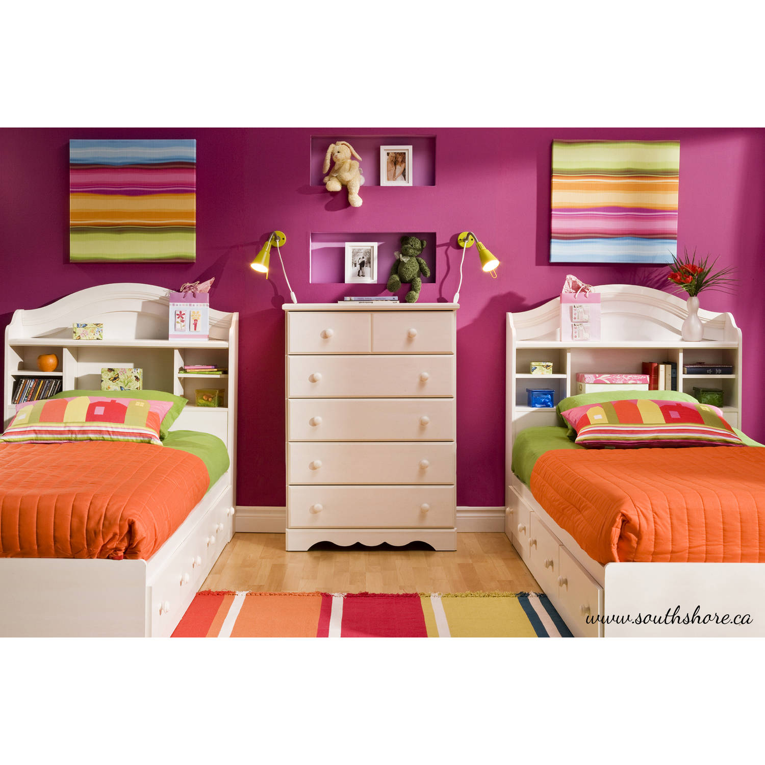 South Shore Bedroom Furniture South Shore Summer Breeze Twin Bookcase Headboard 39 Multiple