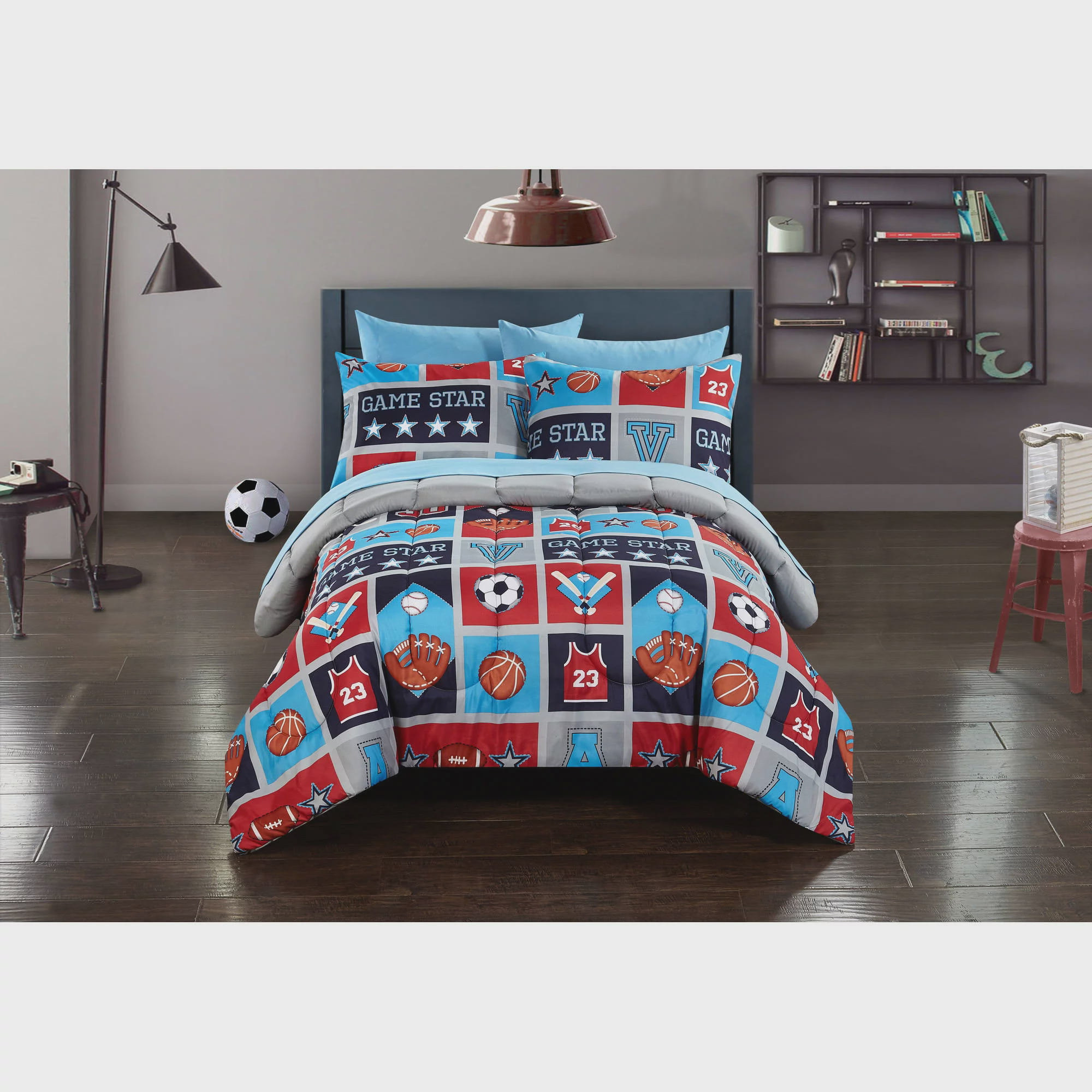set accessories art comforter themed poster the decorations wall bedroom sports australia designs homemade bedding ideas room football stickers soccer