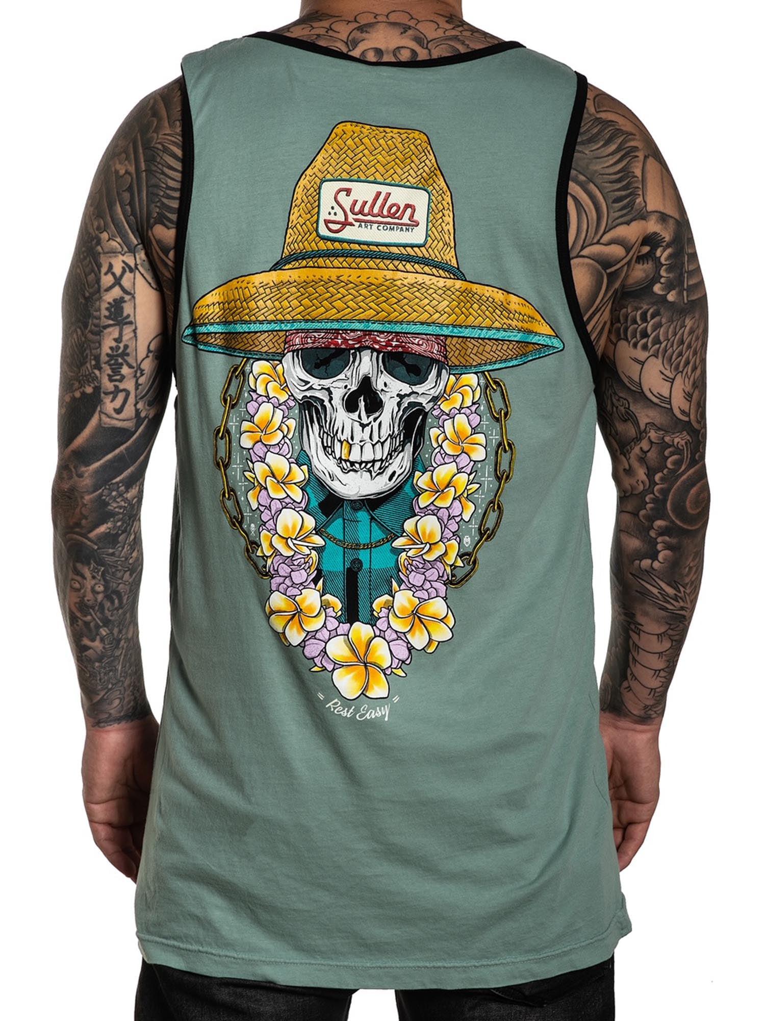 Sullen Men/'s Rest Easy Sleeveless Tank Top Shirt Beryl Green