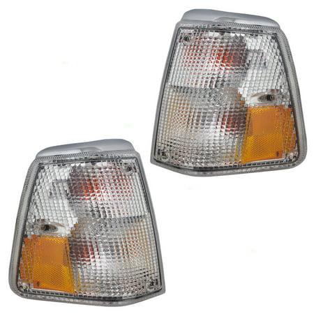 Lense Corner Signal Light (Driver and Passenger Park Signal Corner Marker Lights Lamps Lenses Replacement for Volvo 1312623-0 1312630-5)