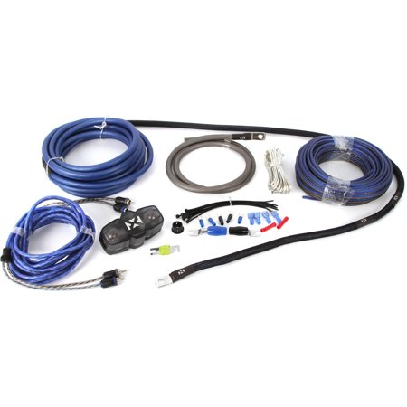 Interconnect Kit - NVX XKIT42 100 Percent Copper, 2-Channel True Spec 4-Gauge Amplifier Installation Kit with RCA Interconnect and 40' Speaker Cable