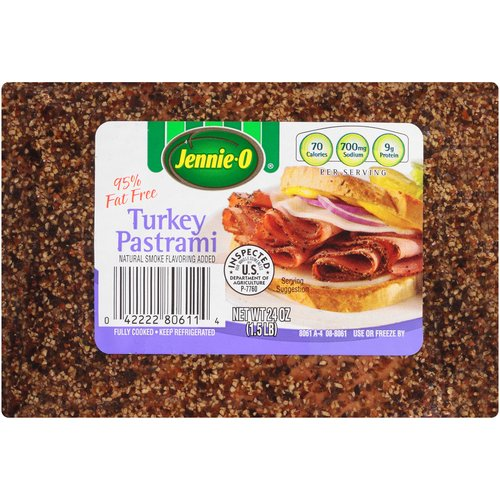 Jennie-O Turkey Pastrami, Fully Cooked 1.5 lbs
