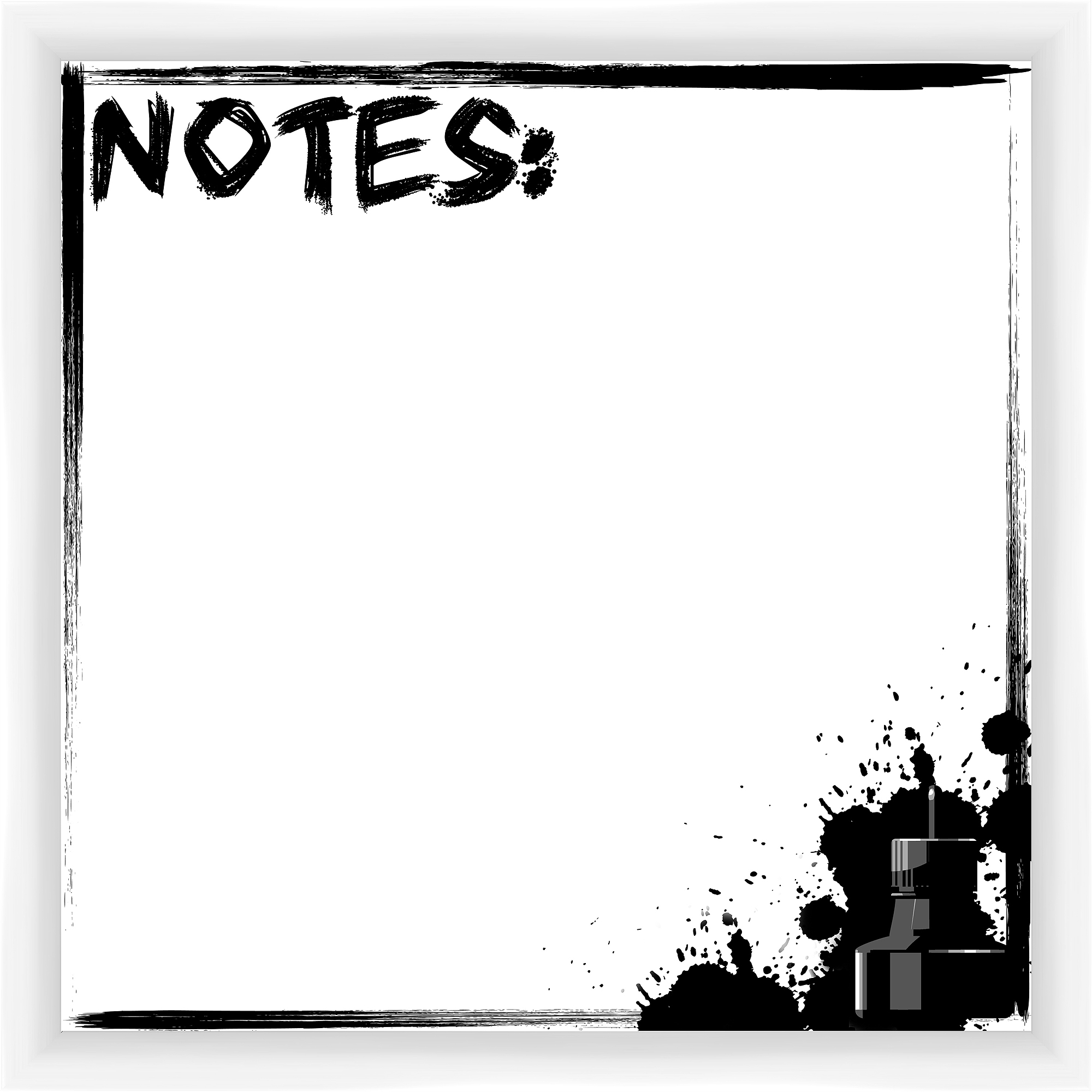 Notes Ink White Memoboard