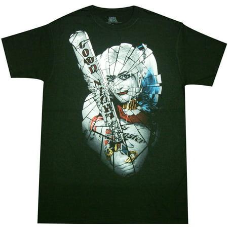 Suicide Squad Harley Quinn Broken Glass Tee Shirt