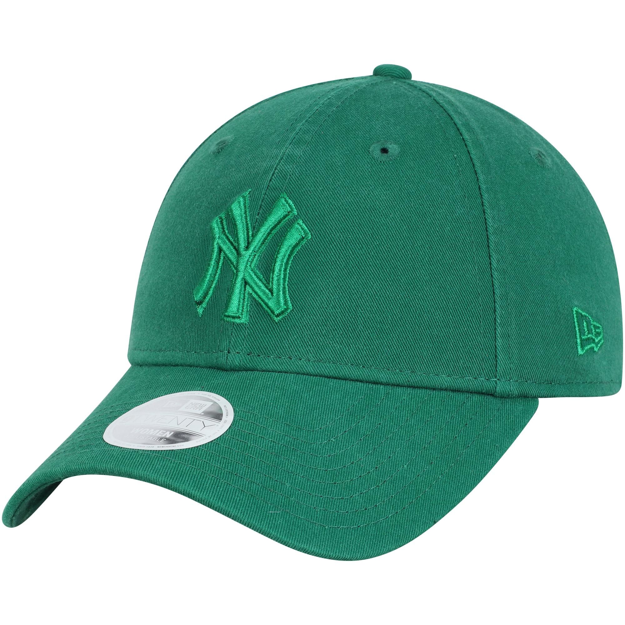 New York Yankees New Era Women's St. Patrick's Day Core Classic 9TWENTY Adjustable Hat - Green - OSFA