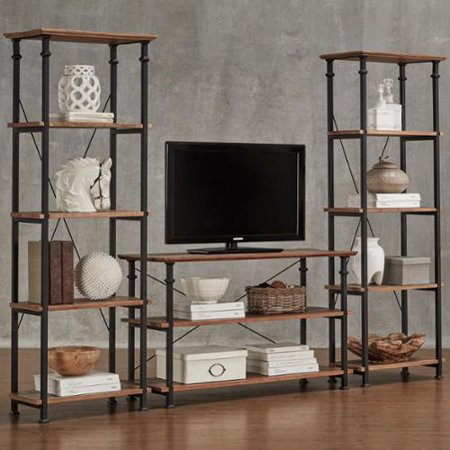 Inspire Q Myra Vintage Industrial Modern Rustic 3 Piece Tv Stand Set By  Classic