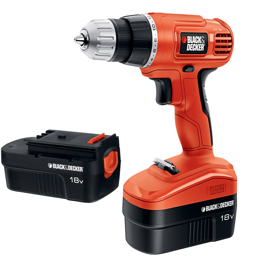 Black & Decker 18Volt Ni-Cad Drill/Driver with 2 Batteries