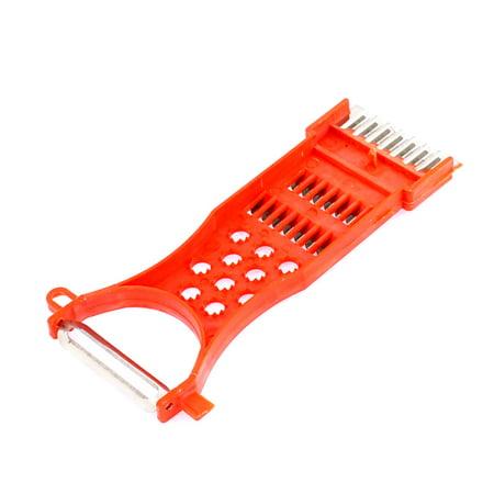 Housewife Plastic Multi-Purpose Potato Carrot Radish Grater Peeler Orange Red - image 2 de 3