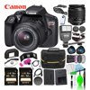 Canon EOS Rebel T6 DSLR Camera w/ EF-S 18-55mm f/3.5-5.6 DC III Lens Kit Bundle with (2) Sony 32GB SDXC Card + Canon Battery + Large Camera Bag + Filter Kit + Wide Angle & Telephoto Lenses and More