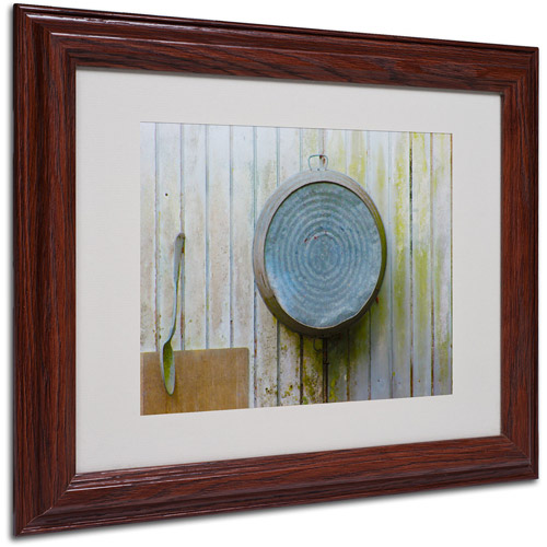 "Trademark Fine Art ""Positively Primitive"" Matted Framed Art by Patty Tuggle, Wood Frame"
