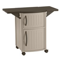 Suncast Resin Serving Station Patio Cabinet, Light Taupe, DCP2000