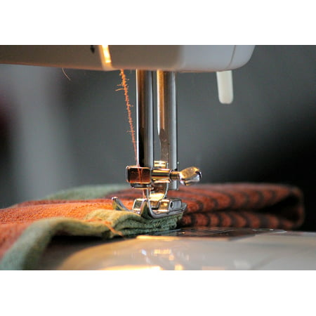 Canvas Print Sew Foot Thread Yarn Coiled Sewing Machine Stretched Canvas 10 x
