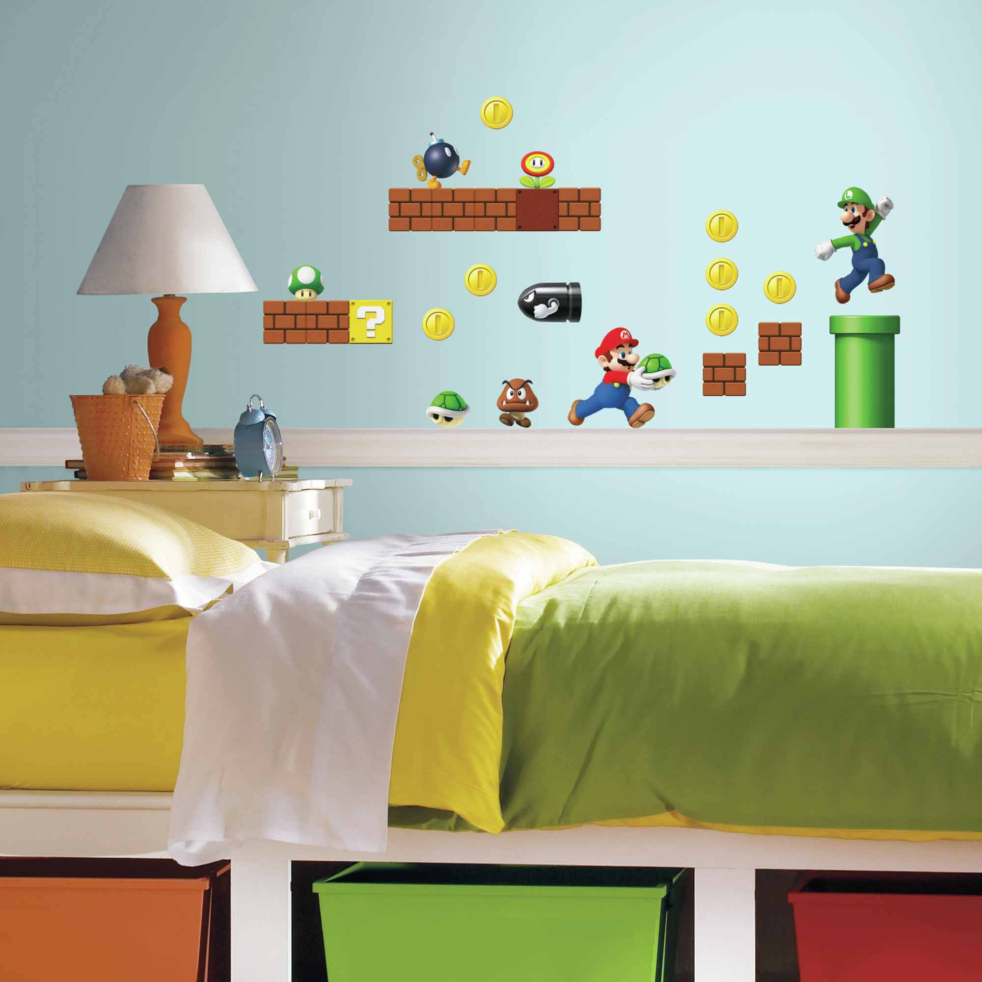 Beau Nintendo Super Mario Build A Scene Peel And Stick Wall Decals   Walmart.com
