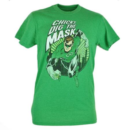 Comics Green Lantern Chicks Dig The Mask Distressed Graphic Tshirt Tee XLarge