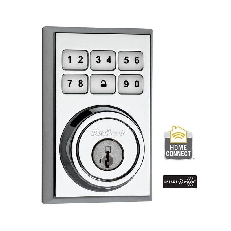 Kwikset 910CNT-ZW SmartCode Contemporary Electronic Deadbolt with Z-Wave Technology