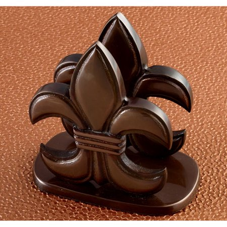 KINDWER Elegant Bronze Fleur de Lis Napkin Holder ()