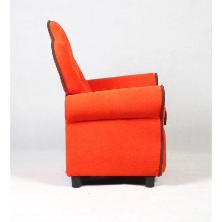 Costway Child Recliner Kids Sofa Chair Couch Living Room Furniture Orange - image 4 de 7