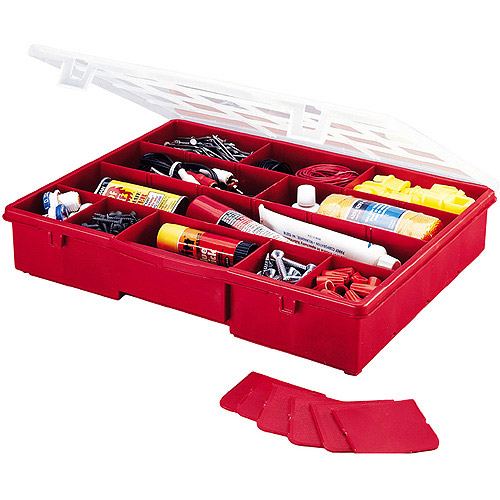 Stack On 17 Compartment Storage Box (Red)
