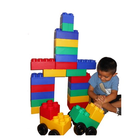 Big City Jumbo Blocks Play Set, 40.0 (Crusader Gm Big Block)