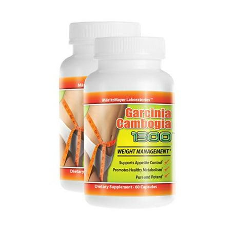 2 Garcinia Extrait 1000mg de calcium pur potassium 60% HCA perte de poids