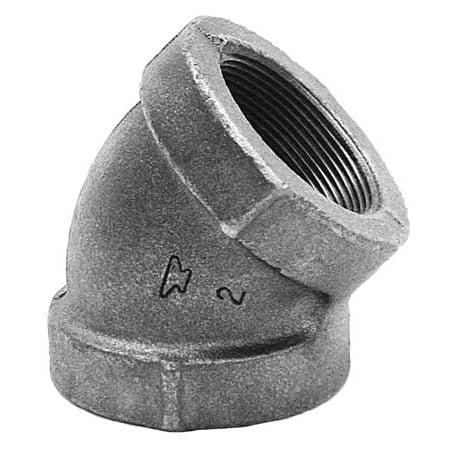 ANVIL Elbow, 45 D,Black Cast Iron,125,1/4 In. (Black Cast Iron 45 Elbow)
