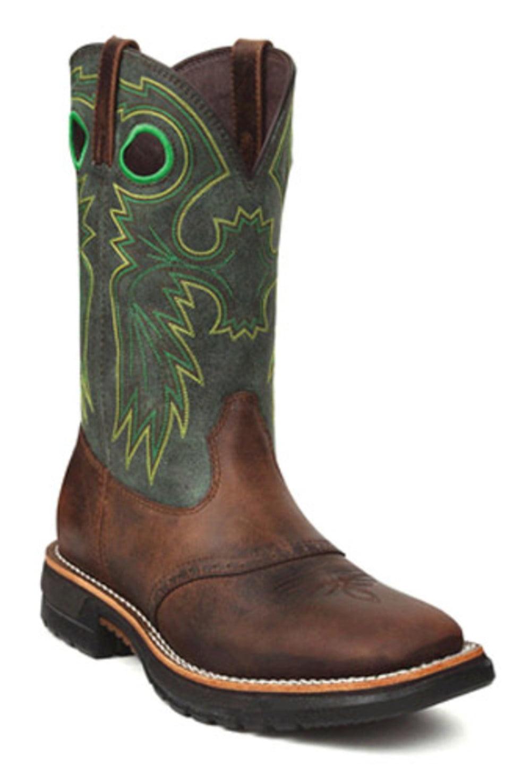 """Men's Rocky 11"""" Steel Toe Western Boots BROWN 8 W by"""