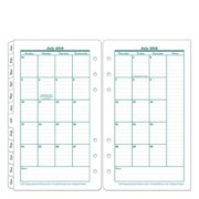 Pocket Original Two-Page Monthly Calendar Tabs - Jul 2016 - Jun 2017