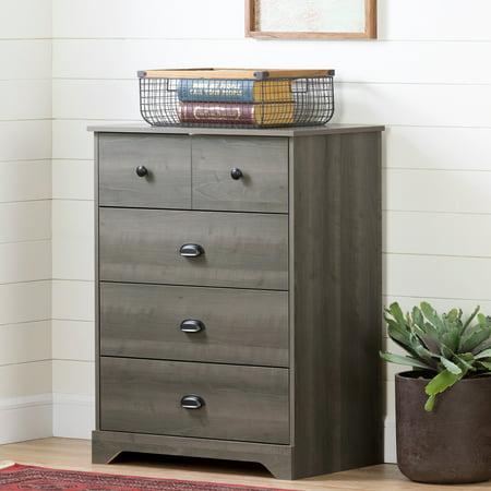 South Shore Volken 4-Drawer Chest Dresser, Gray Maple