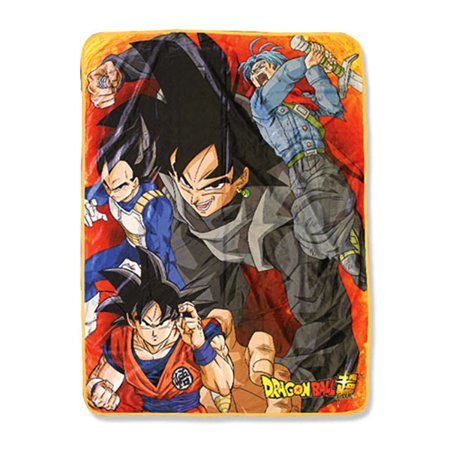 Great Eastern Entertainment Dragon Ball Super Saiyan Warriors Vs Goku Black Sublimation Throw Blanket