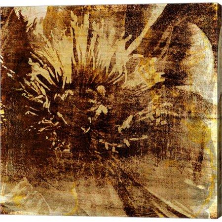 Metaverse C947047-0120000-AAAACMA Poppy Gold IV by Sia Aryai Canvas Wall Art - 12 x 12 (Sia Art Jewelry)