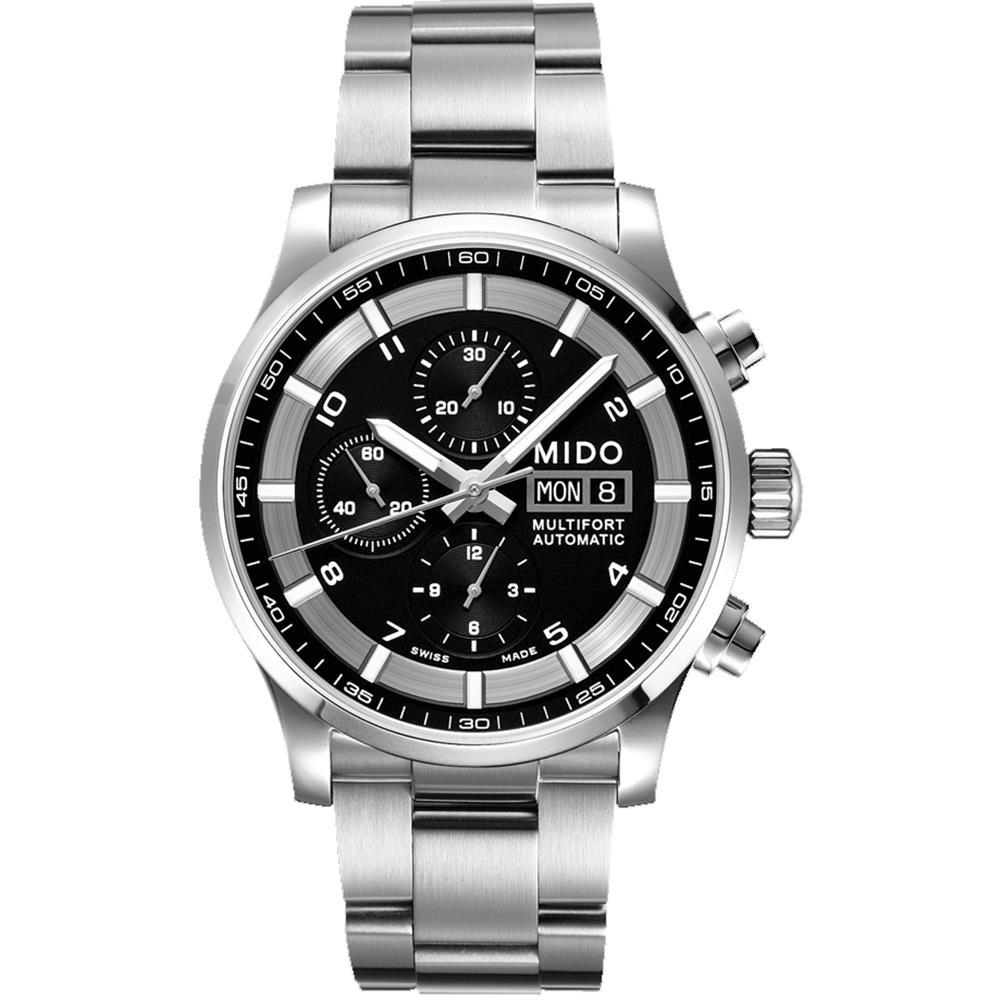 Mido Men's Multifort II 44mm Steel Bracelet & Case Automatic Black Dial Analog Watch M005.614.11.057.01 by Mido