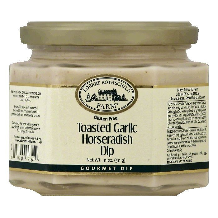 Robert Rothschild Farm Toasted Garlic Horseradish Gourmet Dip, 11 OZ (Pack of 6)